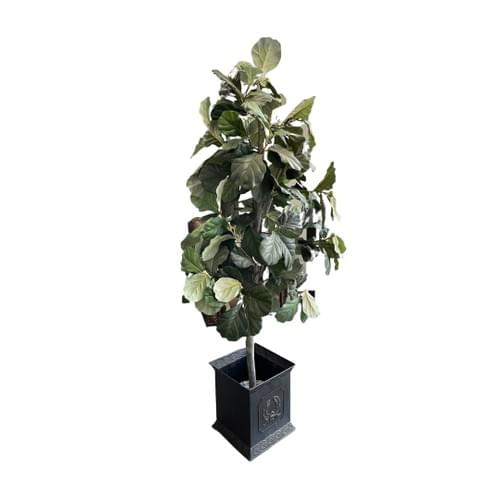 Faux Plant with Charcoal Black Holder