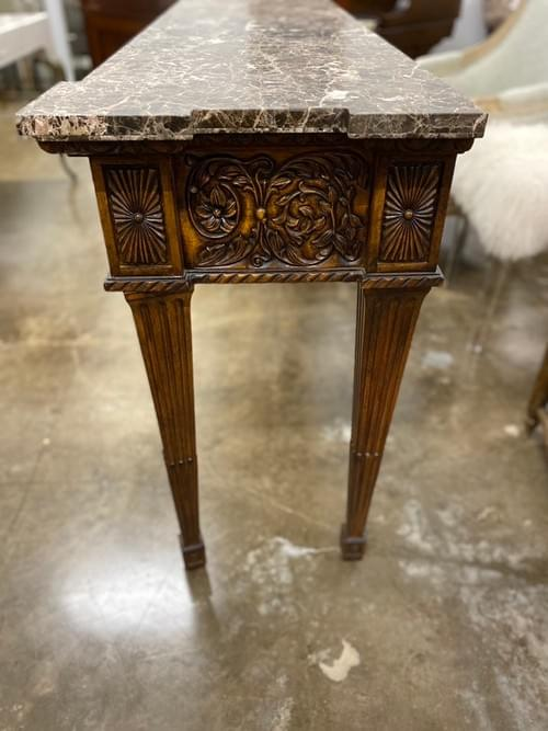 Marble Hand Craved Entryway Console Buffet