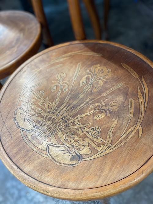 Antique Armless Chairs (pair)