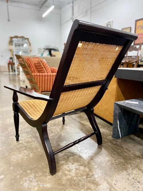 Curved Rattan Cane Lounge Chairs (Pair 2)