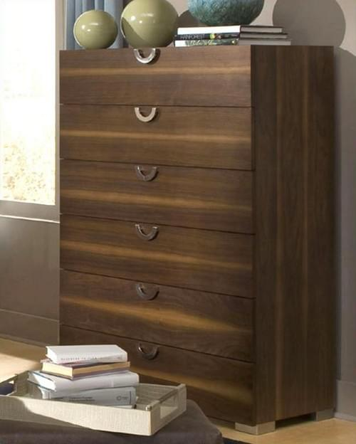 Modern Design Aico Furniture Exiterra 6 Drawer Chest, Dresser