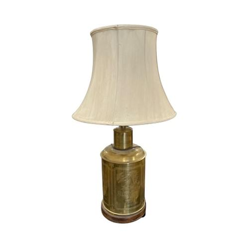 Vintage Farmhouse Rustic Gold Base Lamp