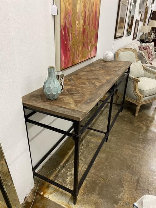 Pottery Barn Parque Reclaimed Wood Consule Table