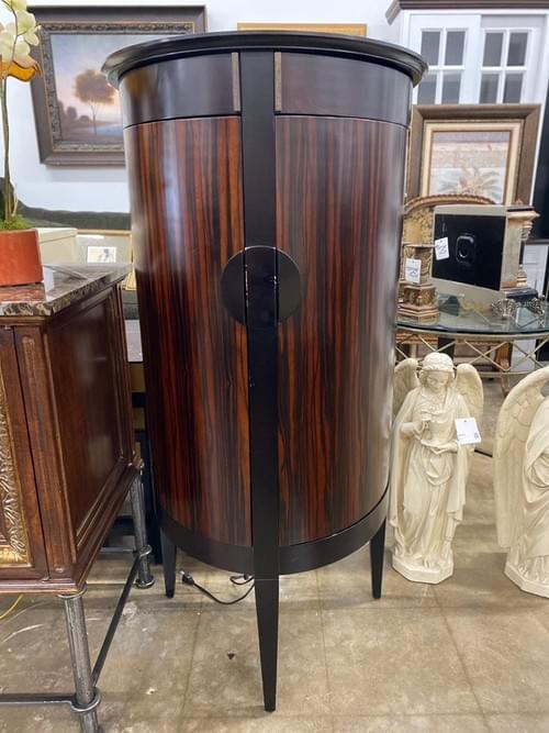 Side Bar Cabinet with Glass Shelves
