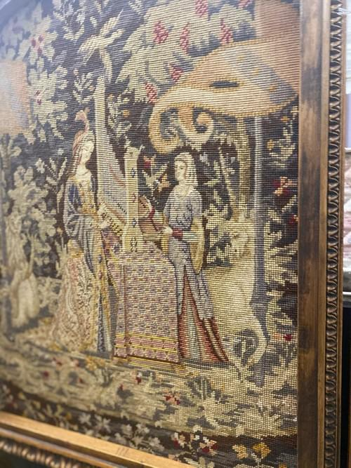 19th Century Tapestry on Stand