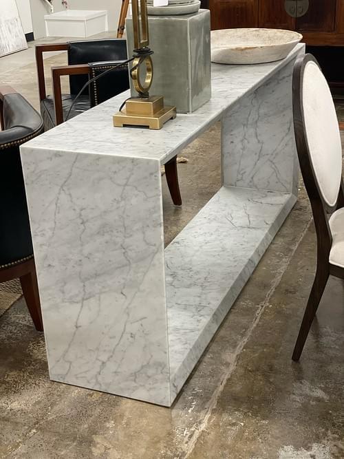 William & Sonoma Home Pierre Console, Marble White