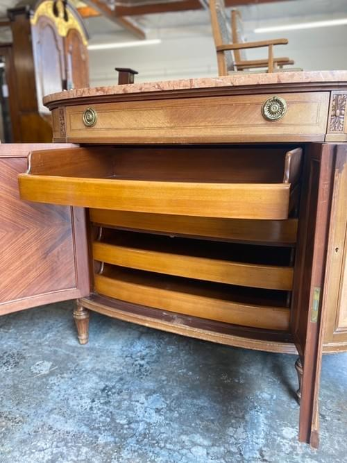 Antique Marble Buffet Sideboard