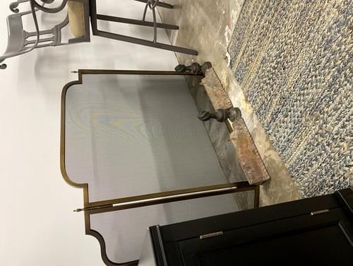 Modern Fireplace Screen + Wood Holders