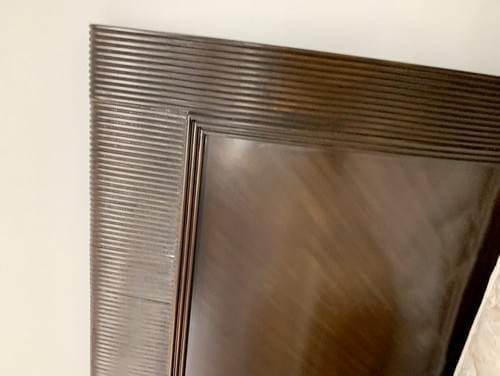 Standard King Dark Mahogany Wood Sleigh Bed Frame