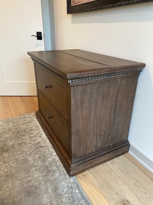 Restoration Hardware St James 2 Drawer Wide Cabinet