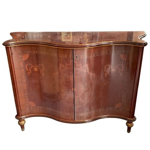 Unique Asian Inspired Sideboard/Buffet with Transparent Printings