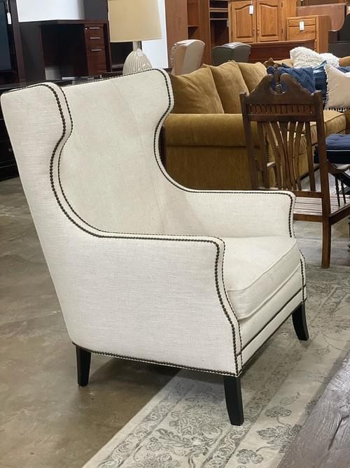 Bernhardt Kingston Nailhead Wingback Chairs (pair)