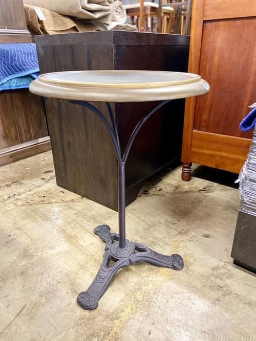 Restoration Hardware Circa 1900 French Brass Brasserie Table