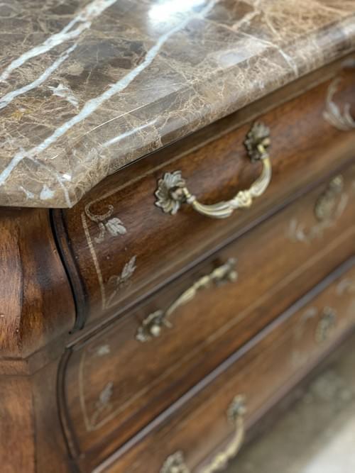 Dresser, Chest of Drawers with Marble Top
