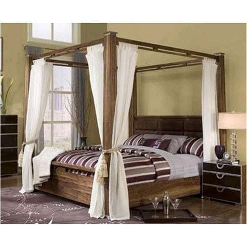 Art Deco Modern Design Aico Furniture Exiterra Eastern Poster Canopy King Bed