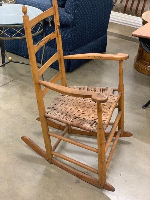 Vintage Farmhouse Rustic Rocking Chair