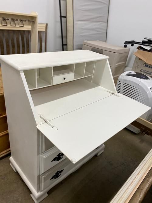 White Slant Top Chest of Drawers