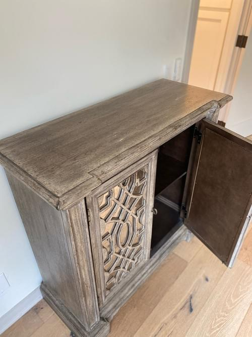 Transitional Mirrored Accent Entryway Console