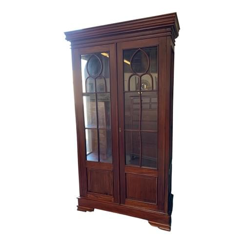 Craftsman Dark Cherry Wood China Cabinet or Hutch