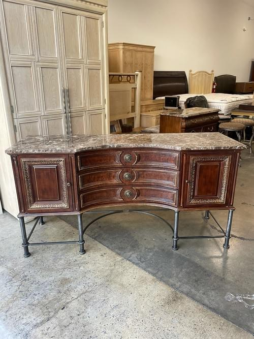 High-End Sideboard, Buffet with Dark Marble Top
