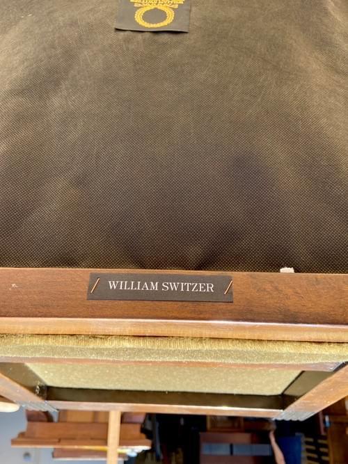 William Switzer Olive Velvet Bar Stools
