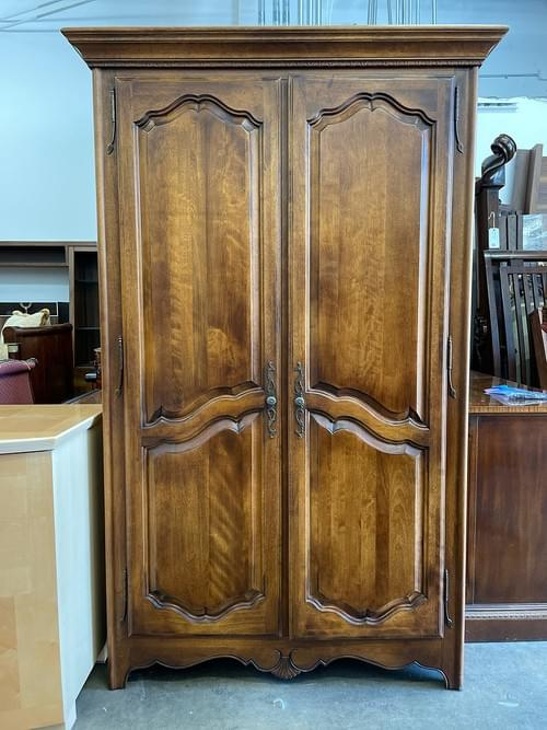 Ethan Allen Walnut Wardrobe Armoire