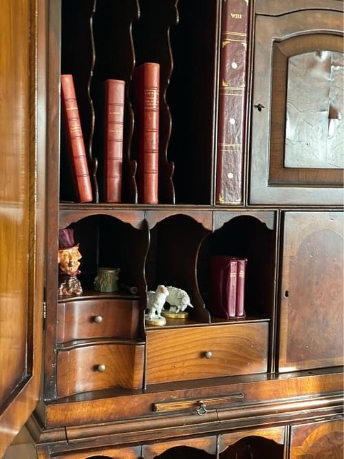 English 19 Century Mahogany Secretary Desk
