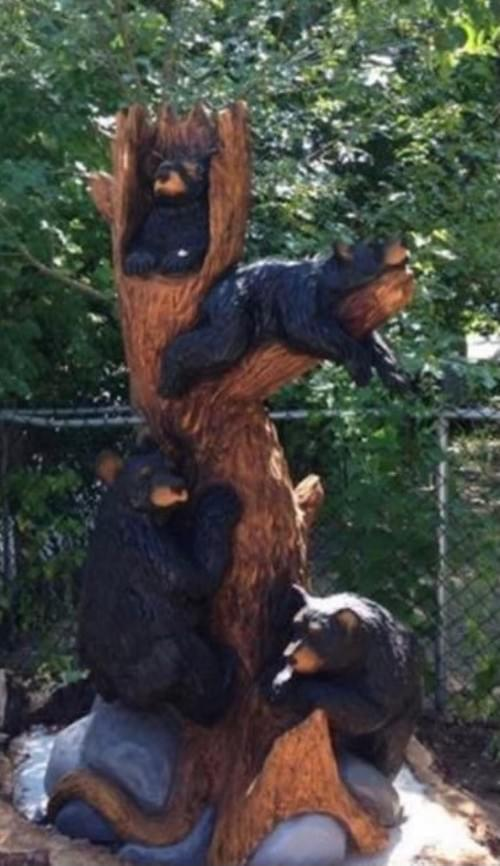 """84"""" Tall 4 Cubs in a Tree"""