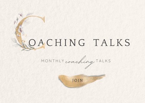 Coaching Talks - Μηνιαίες online ζωντανές coaching συναντήσεις