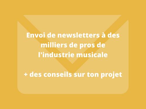 Envoi de newsletters à des milliers de pros de l'industrie musicale