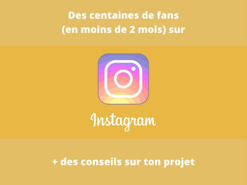 Des centaines de fans sur Instagram