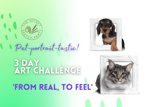 'From Real to Feel' Pet Portrait Art Challenge