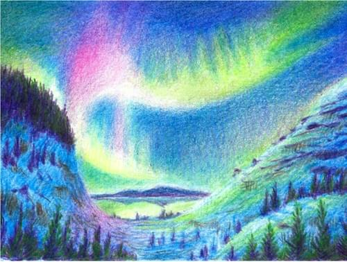 Dreamy Night time Aurora Landscape (Full Guidebook)