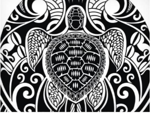 Maori Tattoo with Turtle Motif (Full Guidebook)
