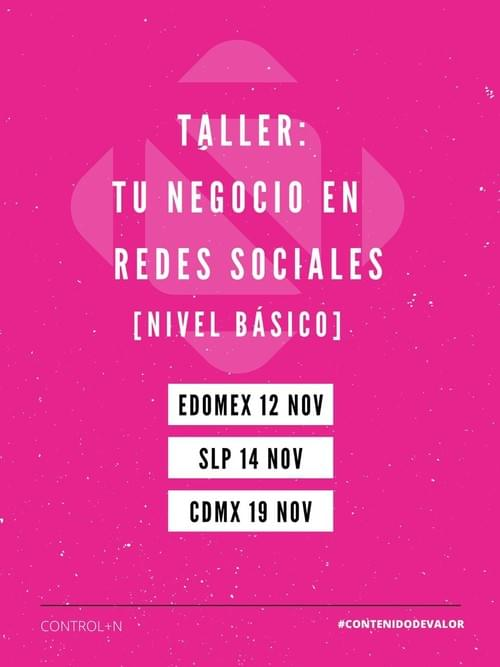 Taller: Tu Negocio en redes sociales (Nivel Básico).