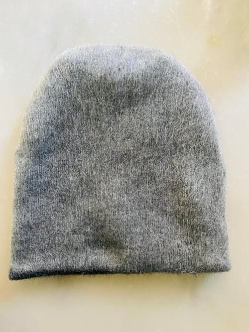 Charcoal Pebble Alpaca Reversible Hat