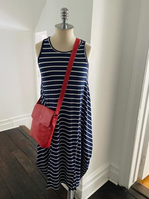 Striped Jersey Maxi Tank Dress