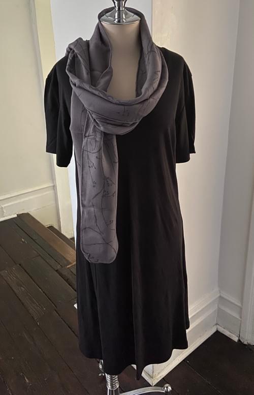 Black V Neck T- Shirt Dress