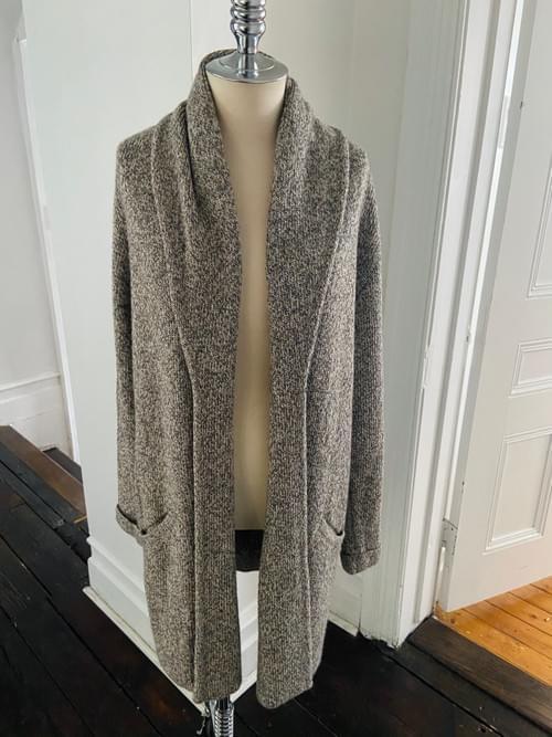 Oatmeal Alpaca Duster Cardigan