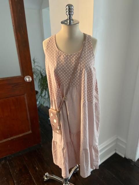 Pink Patchwork dress