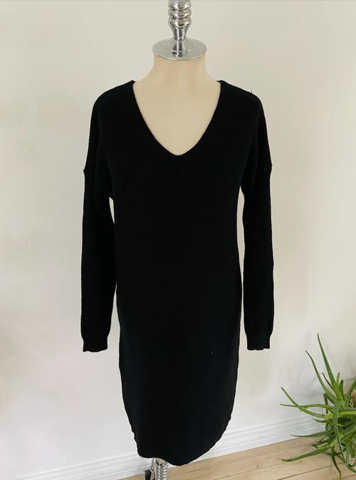 Knit Ribbed Sweater Dress
