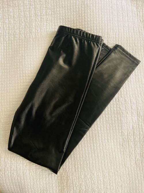 Faux Leather Black Leggings BACK IN STOCK
