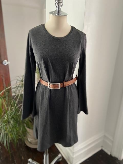 Charcoal Bell Sleeve dress