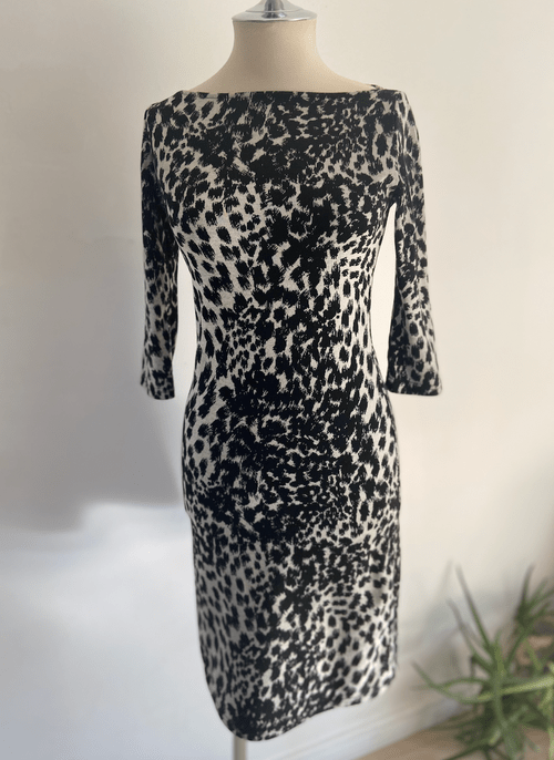 Vintage Ziliotto Animal Print Tunic Dress