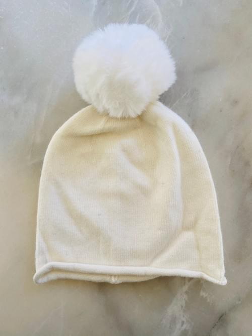 Slouchy Pom Pom Hat