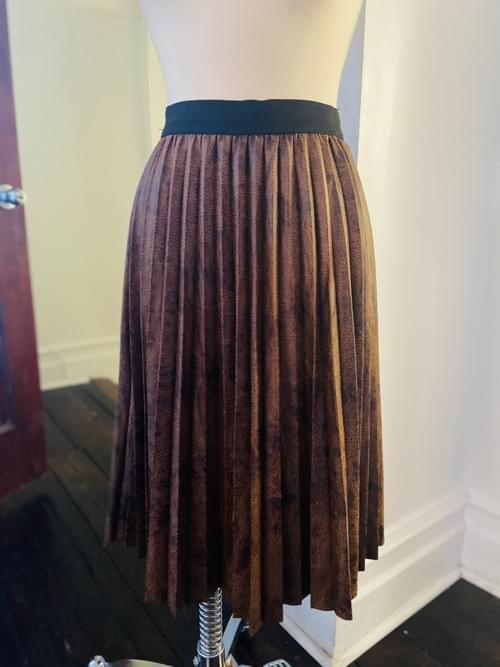 Faux Snake Skin 3/4  Pleated Skirt  NOW ON SALE