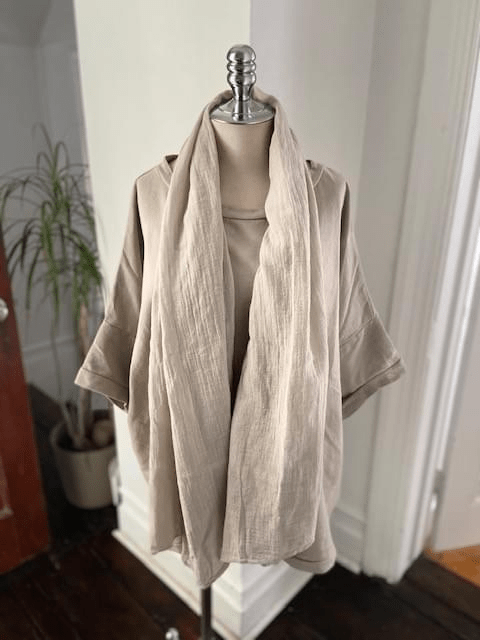 Linen cotton scarf
