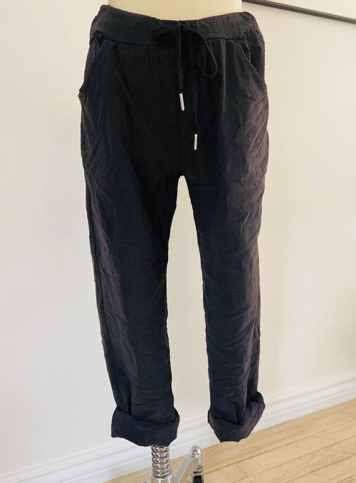 Klimt crinkle Black Pants