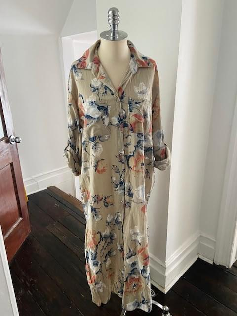 Long Floral Cotton Tunic