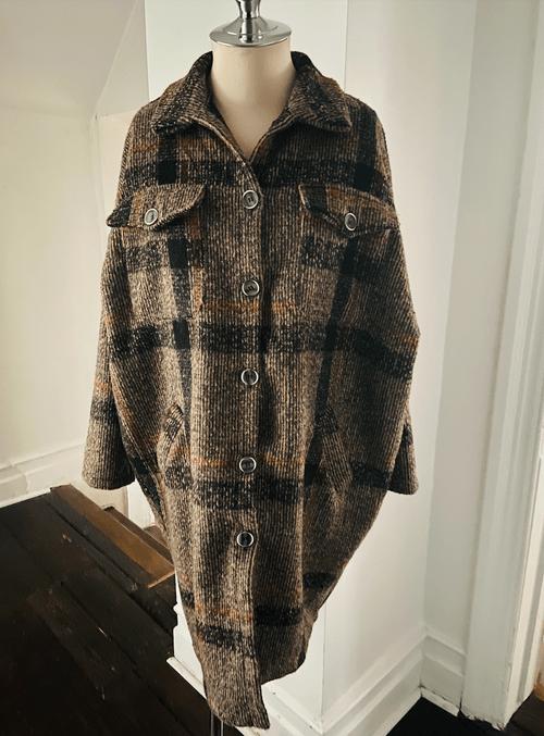 Plaid Grandfather Coat